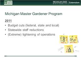 Michigan Master Gardener Program History Mission Roles Survey