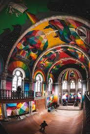 Famous Spanish Mural Artists by A 100 Year Old Church In Spain Transformed Into A Skate Park