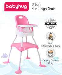 Babyhug Urban 4 In 1 High Chair With 3 Point Safety Harness And AntiSlip  Base Pink Online In India, Buy At Best Price From Firstcry.com - 1898089 Graco Standard Full Sized Crib Slate Gray Peg Perego Tatamia 3in1 Highchair In Stripes Black Stokke Tripp Trapp High Chair 2018 Heather Pink Costway Baby Infant Toddler Feeding Booster Folding Height Adjustable Recline Buy Chairs Online At Overstock Our Best Walmartcom My Babiie Group 012 Isofix Car Seat Complete Gear Bundstroller Travel System Table 2 Goldie Walmart Inventory Boost 1 Breton Stripe Evenflo 4in1 Eat Grow Convertible Prism
