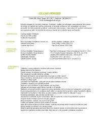 PARAPROFESSIONAL RESUME GILLIAN HOWARD Resume Examples Downloadable Paraprofessional