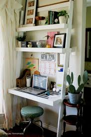 Crate And Barrel Leaning Desk White by Ladder Style Writing Desk With Shelves Best Home Furniture