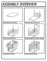 Arrow Metal Shed Floor Kit by Amazon Com Arrow Shed Ys410 A Yard Saver 4 Feet By 10 Feet Steel