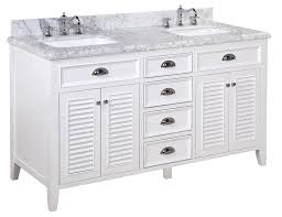 60 Inch Bathroom Vanity Single Sink Black by Kitchen Bath Collection Kbc Sh602wtcarr D Savannah Double Sink