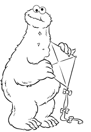 Monster Cookie Bite Kites Coloring Pages