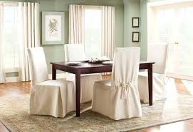 Chair Cover Dining Room Cotton Duck Long Slipcover Seat Covers Uk