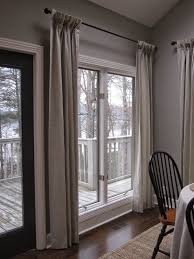 French Door Treatments Ideas by Floor Length Curtain Window Treatment For French Door Decofurnish