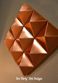 Marvelous Abstract Copper Pyramids TwoThirtyFiveDesigns Pyramid Wall Art