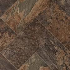 Linoleum Sheet Flooring Menards by Ivc Impact Sheet Vinyl Flooring Flagstone Terra 43 12 Ft Wide At