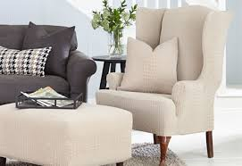 Chair And Ottoman Covers by Sure Fit Slipcovers Our Latest Animal Print Collection Stretch