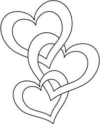 Valentines Day Hearts Coloring Pages 2 Valentine Printable With Heart Free