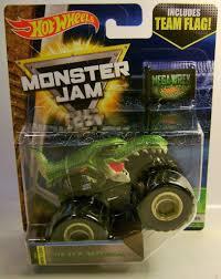 100 Dinosaur Monster Truck MEGA WREX TREX DINOSAUR W TEAM FLAG TRUCK MONSTER JAM HOT WHEELS