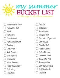 Summer Bucket List Fun Activity Ideas For Families And Craft Kids Activities