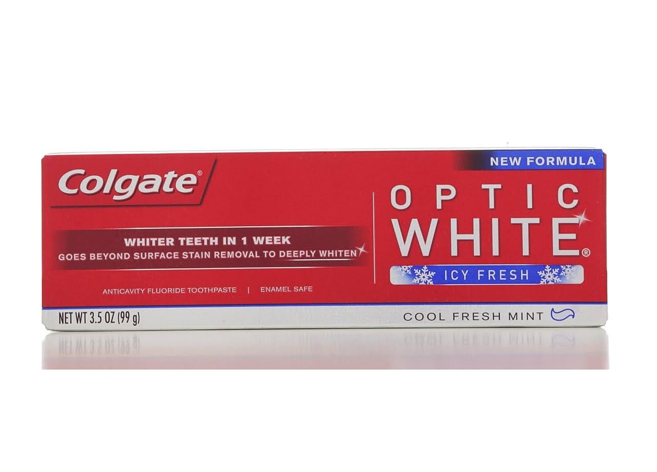 Colgate Optic White Icy Fresh Toothpaste - Cool Fresh Mint, 99g