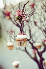 Close Up Of The Cup Cakes Hanging From Tree