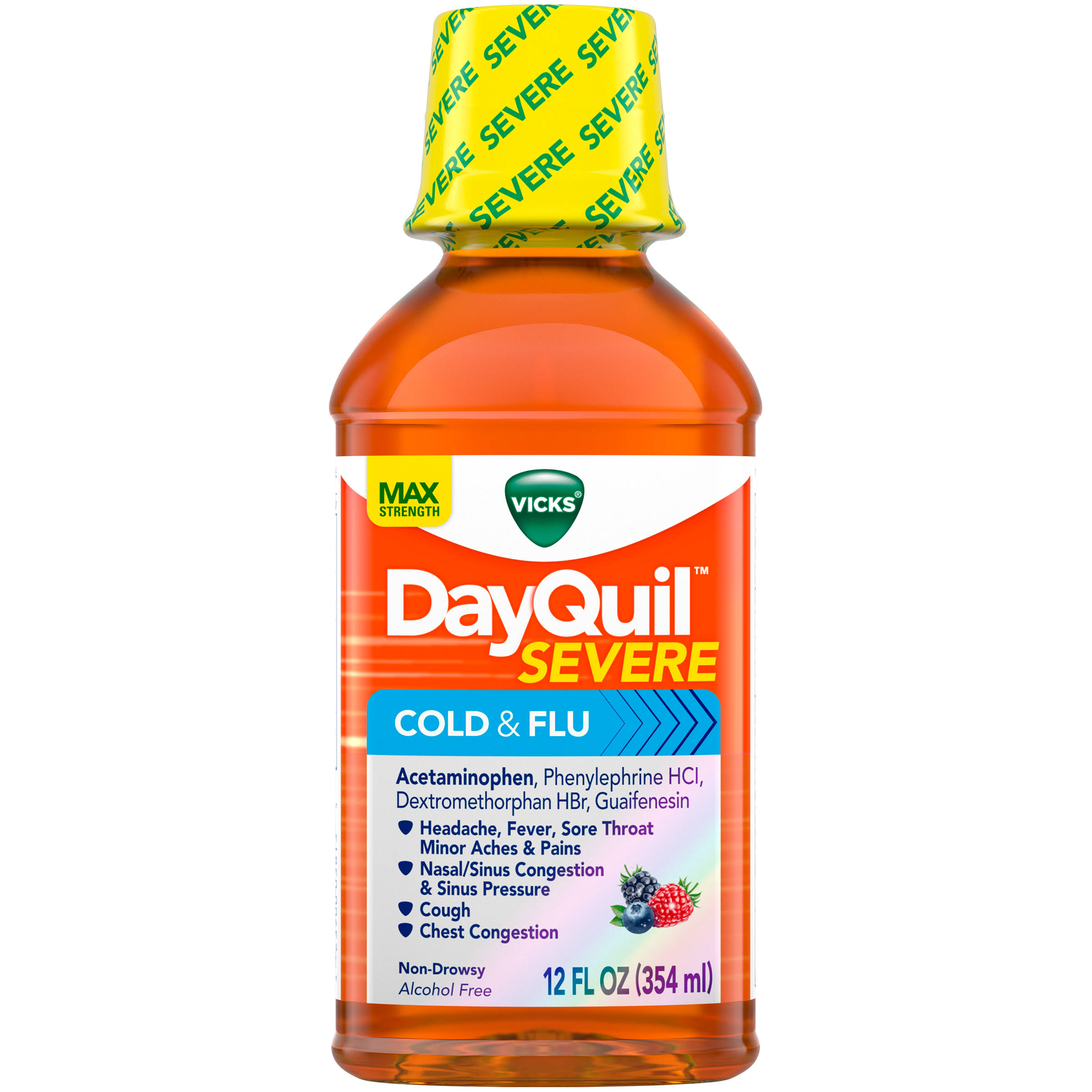 Vicks DayQuil Max Strength Severe Cold and Flu Medicine - 12oz