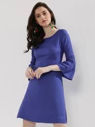 buy zivame button up back shift dress for women women u0027s blue