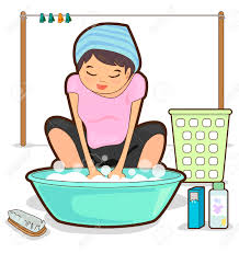 kids washing clothes clipart 5