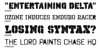 Image result for painted stencil font