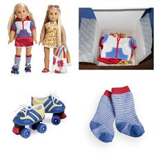 AMERICAN GIRL JULIES 2 IN 1 SUMMER SET AND JULIES ROLLER SKATES