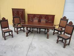 Perfect Antique Dining Room Set Old Fashioned Table And Chair Furniture 1930 1910 With Leaf Style