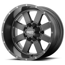 100 Helo Truck Wheels MOTO METAL WHEELS MO962 Satin Gray W Milled Accents Off Road