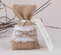 50pcs Lot Size 4 X65 Rustic Wedding Favor Bags Burlap Lace Gift Thank You Bag Baby Shower In Wrapping Supplies From Home