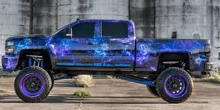 100 Vinyl Wrap Truck Galaxy On Lifted Silverado 2500 HD CARiDcom Gallery