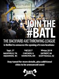 New Axe Throwing Locations Coming Soon | BATL Bad Axe Throwing Where Lives Youtube Think Darts Are Girly Try Axe Throwing Toronto Star Outdoor Batl At In Youre A Add To Your Next Trip Indy Backyard League Home Design Ideas The Join The Moving Into Shopping Mall Yorkdale Latest News National Federation Menu