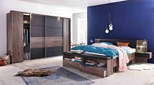 lifestyle4living schlafzimmer schlafzimmer set futonbett bett bettanlage kopfteilpolster drehtürenschrank schwebetürenschrank schlammeiche