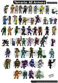 Terraria Halloween Event by Terraria All Armors 1 3 By Ppowersteef On Deviantart