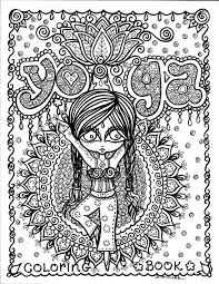 Yoga Coloring Book Page Colouring Adult Detailed Advanced Printable Zentangle