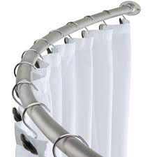 Walmart Curtain Rods Canada by Oval Shower Curtain Rod Black Shower Curtain Rod And Rings Shower