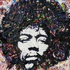 Jimi Hendrix Art Large Wall 36x36 Pop Painting Rock Music Canvas