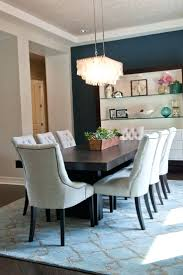 Dining Chairs Navy Blue Canada Eight Off White Tufted Surround A Dark