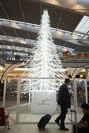 Swarovski Christmas Tree Unveiled At Heathrow Airport LHR