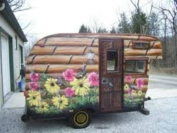 Another Fun Paint Job On A Vintage Camper