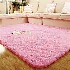 Shaggy Anti Skid Area Rug Dining Room Carpet Bedroom Square Floor Mat New EBay