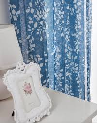 leaf design printing blue contemporary sheer curtains buy blue