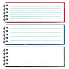 Notebook clipart note paper Pencil and in color notebook clipart