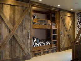 Barn Style Doors With Built In Bunks Great For The Grandkids