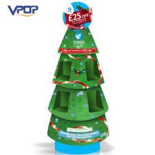 POS Cardboard Christmas Tree Ornament Display Stand