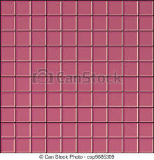 3s Render Square Pink Bathroom Tiles Surface