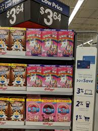 Buy 4 Kelloggs Unicorn Limited Edition Family Size Cereal Boxes 187oz 364 Each Total 1456 Use The 2 Printable Coupon