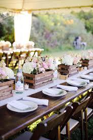 Handmade Flower Boxes For Rustic Wedding Centerpieces Centro De Mesa Boda
