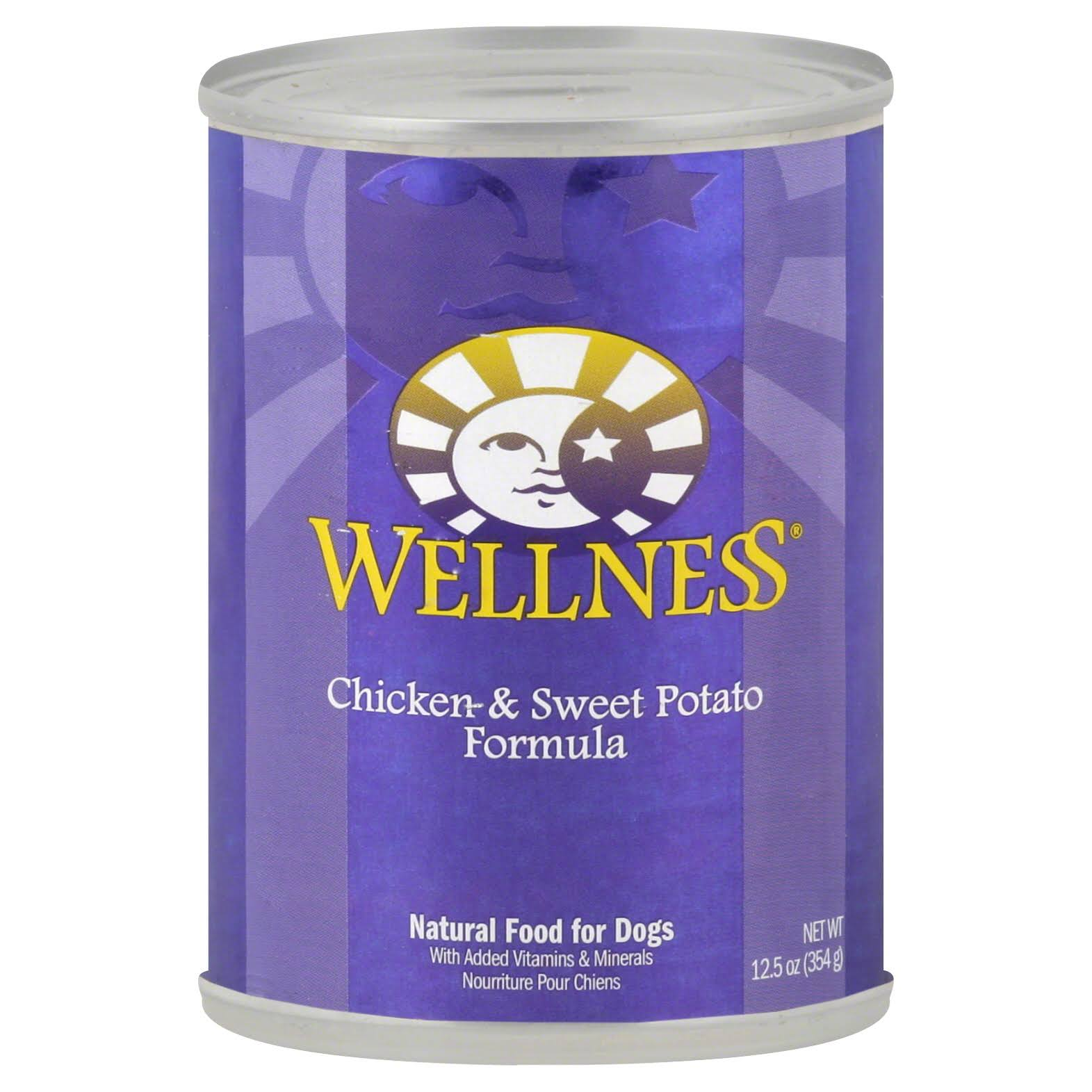 Wellness Canned Dog Food - Chicken and Sweet Potato, 12.5oz