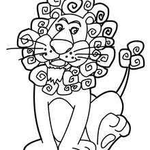 Kawaii Zebra Lion Online Coloring