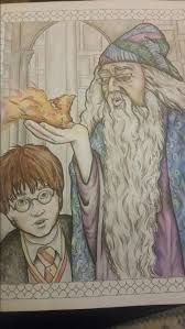 Harry Potter Dumbledore Magical Creatures Book Colour By Sarah Hunter