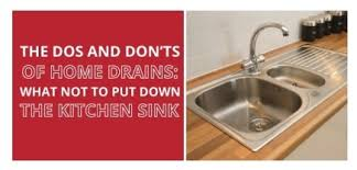 Garbage Disposal Backing Up Into Both Sinks by The Dos And Don U0027ts Of Home Drains What Not To Put Down The
