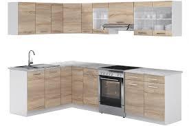vicco küche rick eck winkel küchenzeile küchenblock einbauküche 270 cm sonoma kombinierbare einheiten r line