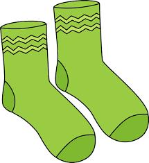 Pair of Green Socks Printable